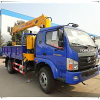 China foton boom truck crane 3 ton on sale
