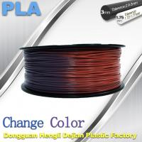 Quality Variable Temperature 3D Printer PLA Color Changing Filament 1.75 / 3.0mm for sale