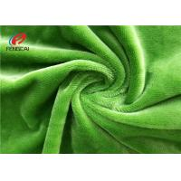 Green Color Micro Velvet Material , Velvet Upholstery Fabric 60 Inch Wide Manufactures