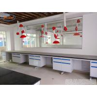 China Costomized Anti Strongest Corrosion / Acid / Alkali Blue / White Steel Lab Bench Furniture on sale