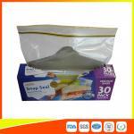 Supermarket Reuseable Plastic Clear Sandwich Bags Zipper Top 22 * 25cm Manufactures