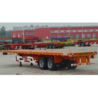 Buy cheap 3 Axle Flatbed Tractor Trailer Container Semi Trailer With Container Lock from wholesalers