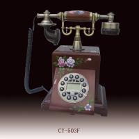 antique telephone,telephone with becautiful flowers,Antique Crafts Manufactures