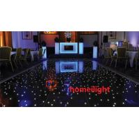 China Twinkling RGB LED Starlit Dance Floor , Black White DJ LED Dance Floor for Wedding on sale