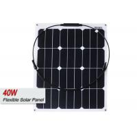 40 Watt Small Lightweight Semi Flexible Solar Panels For Boats RV Marine