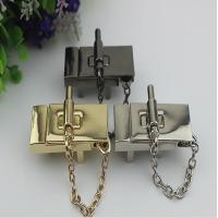 High end zinc alloy 3 color metal hardware accessories purse locks with nickel free Manufactures