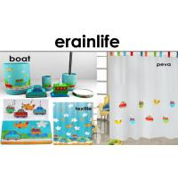 Home Collection Bathroom Accessories Set Coordinated Boat Shower Curtain Manufactures