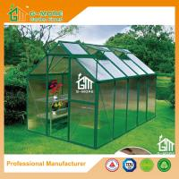 China Low Cost Agriculture Green Color Aluminum Growhouse Equipment - 355x216x220cm on sale