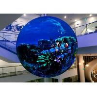 Interior Sphere Led Screen , Global Led Display Front / Rear Maintenance Manufactures