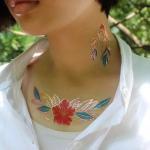 Jewel temporary gold tattoo, Custom temporary gold tattoo, fake tattoo Manufactures