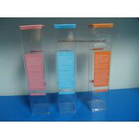 China Extrusion Clear Plastic Square packaging tube with Lids plastic printing tube on sale