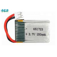 Small RC Drone Battery 3.7v 150mah Lipo Cell 651723 High Rate 15C For X2 RC Quadcopter Manufactures