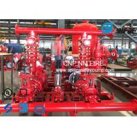 UL FM Approved Skid Mounted Fire Pump Package Ductile Cast Iron Materials Manufactures