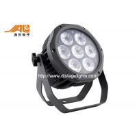 Ip65 Waterproof Rgbwa Flat Outdoor Led Par With Aluminum Black Housing Manufactures
