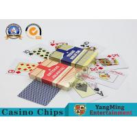 Custom Washable 100% Plastic Las Vegas Casino Playing Cards Set Printing 88 * 63mm Manufactures