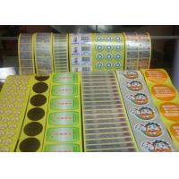 Greaseproof Food Label Stickers , Adhesive Food Labels For Fruits / Vegetables Manufactures