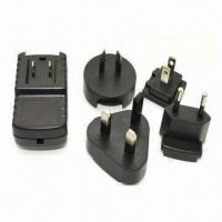 12V, 1A, AC Adapter with Interchangeable AC Plug, Suitable for Routers, Tip Size of 5.5 x 2.5mm Manufactures