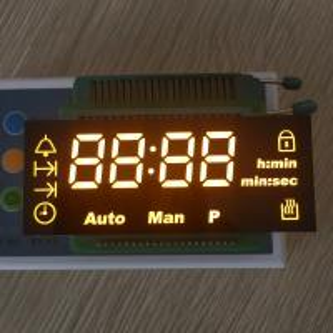Custom design ultra amber led display common cathode for digital oven timer Manufactures