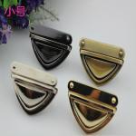 High quality fashion metal accessories zinc alloy 4 colors handbag lock hardware Manufactures