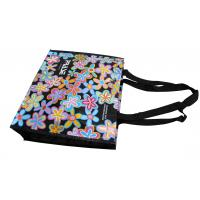 China Customized PRASE PP Woven Bags With Flower Pattern, Personalized Logo For Shopping on sale