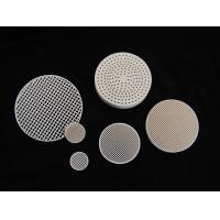 Quality Custom Round Anti-acid / alkali 2MgO + 2Al2O3 + 5SiO2 Industrial Honeycomb Ceramic Plate for sale
