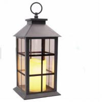 China Windproof Metal Black Wedding Lantern / Memory Lantern/ Wedding Centerpiece Decorative Lantern With Led Pillar Candle on sale