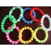 Colorful Silicone beaded bracelets with available molds Manufactures