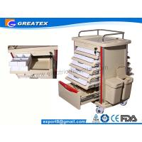 Hospital Plastic Medical Storage Trolley / Dental Drug Dispensary Cart With Wheels   (GT-TAQ201) Manufactures