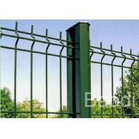 Green Vinyl Coated Wire Mesh Fence Boundary With Metal Post Simple Structure Manufactures