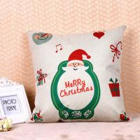 Printed Pillow Cushion Covers , Christmas Series Decorative Sofa Pillows Manufactures