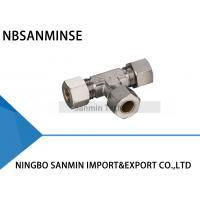 Brass Compression Fitting Pneumatic Air Fittings 4 , 6 , 8 , 10  12 mm Port Size Manufactures