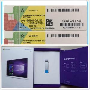 China Win 10 Pro DVD + Key 64-Bit OEM  MS Windows 10 Professional Code on sale