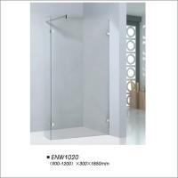 China Reliable Frameless Shower Doors With 6mm Clear Tempered Glass Material on sale