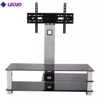 B64BT TV Stand with Bracket Mount and 3-Tier Glass Shelves for 37 to 60 Inch Plasma/LCD/LED TVs Manufactures