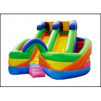China Inflatable Cartoon Rainbow Item Slide Kids Bed Bunk Slide For Amusement Game on sale