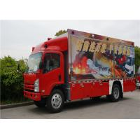 Two Seats Commercial Fire Trucks Japanese Chassis With 13 Sets Communication Modules Manufactures
