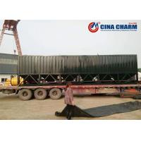 China Cement Storage Fly Ash Storage Silo Horizontal Type With Fully Welded Construction on sale