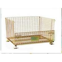 Heavy duty metal wire mesh pallet cage Manufactures