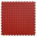 PVC Round Studded Pattern Interlocked Floor Mats Garage Flooring 500X500X6.5mm Manufactures