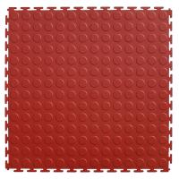 Quality PVC Round Studded Pattern Interlocked Floor Mats Garage Flooring 500X500X6.5mm for sale