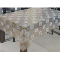 China Crocheted Golden Plastic Lace Table Cloth on sale