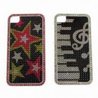 China Crystal Cases for iPhone 4/4S, Comes with Novel Design Logos and Environment Crystals on sale