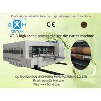 Heavy Duty Paper Slitting Machine , PLC Touch Screen Control Carton Printer Manufactures