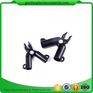 Adjustable Garden Cane Connectors , 16mm Black Bamboo Cane Connectors 50*40*40 Free sample Manufactures