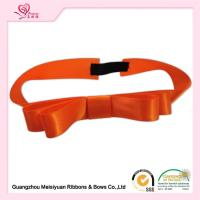 China Orange Color Elastic Ribbon Bows with stretch loops for gift boxes / Cards wholesale