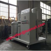 Lubricant Oil Filtration System, Vacuum Oil Purifie for eliminate Mechanical Impurities Light Acid and light hydrocarbon Manufactures
