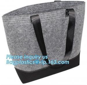 Eco-Friendly Grey Reusable Felt Grocery Shopping Handbag Tot Bag For Women Men,Mesh bags,Shopping bags, Drawstring bags, Manufactures
