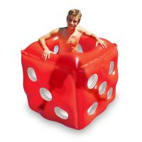 Swimming Pool Inflatable Red Dice Cube Ride-On Floating Water Toy Summer PVC Set Manufactures
