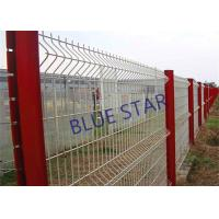 Quality Pvc Coated Welded Wire Mesh , Gal Curved Wire Mesh Fence Panels 0.5m - 3m Wdth for sale