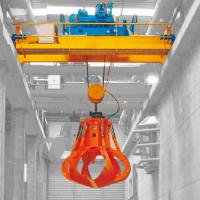 Garbage Grab Double Girder Overhead Crane Safety 36 Ton 100 Ton Load Capacity Manufactures